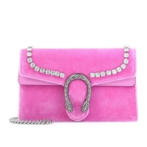 Gucci Swarovski crystal super mini pink Di…